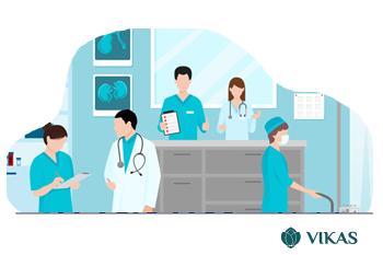 Vikas - Nursing station module ; patient care, hospital ERP software Malawi, Ethiopia